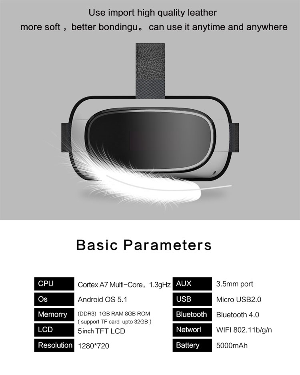 2016 Google cardboard 3D Movie Games Glasses VR BOX Android 5.1 Virtual Reality Quad-Core Smart WIFI Bluetooth Remote Controller