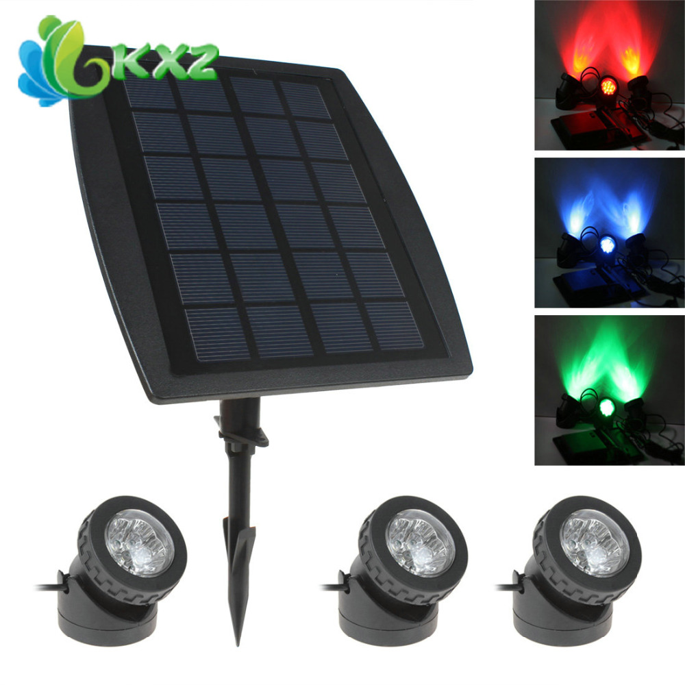 3 x 6 RGB Color LED Solar Powered Garden Light Outdoor Waterproof Yard Pool Lawn Super Bright Decorative Lamp Landscape Lighting(China (Mainland))