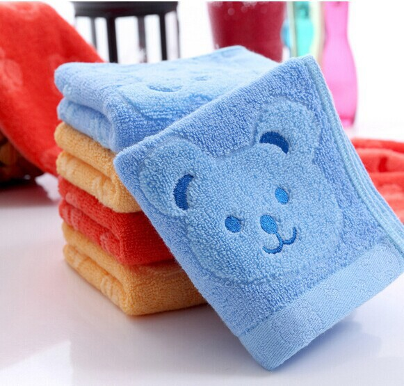 100% Cotton Baby Face Cute Cartoon Wash Cloth Towels Washers Hand Baby Handkerchief free shipping