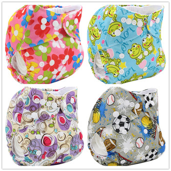 Reusable Baby Diapers Bamboo Charcoal Cloth Diapers Washable Diaper Cover Character Print Panales Reusables Couche Lavable