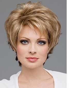 Beautiful Pixie cut style Synthetic wigs Short Straight hair Blonde wig Full bangs women - NORWICH CITY INTERNATIONAL CO,LTD store