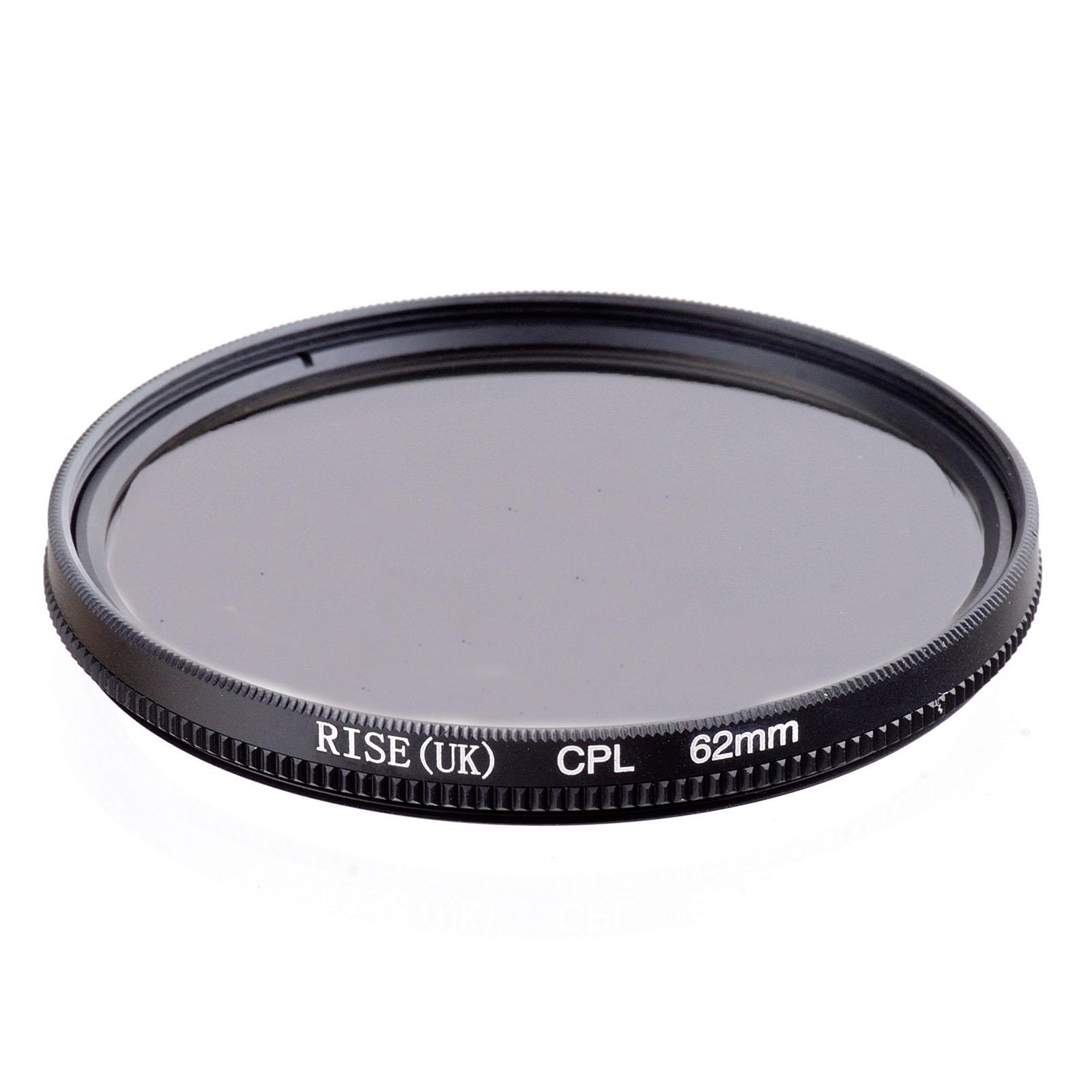 lower price RISE(UK) 62mm Circular Polarizing CPL C-PL Filter Lens 62mm For Canon NIKON Sony Olympus Camera(China (Mainland))