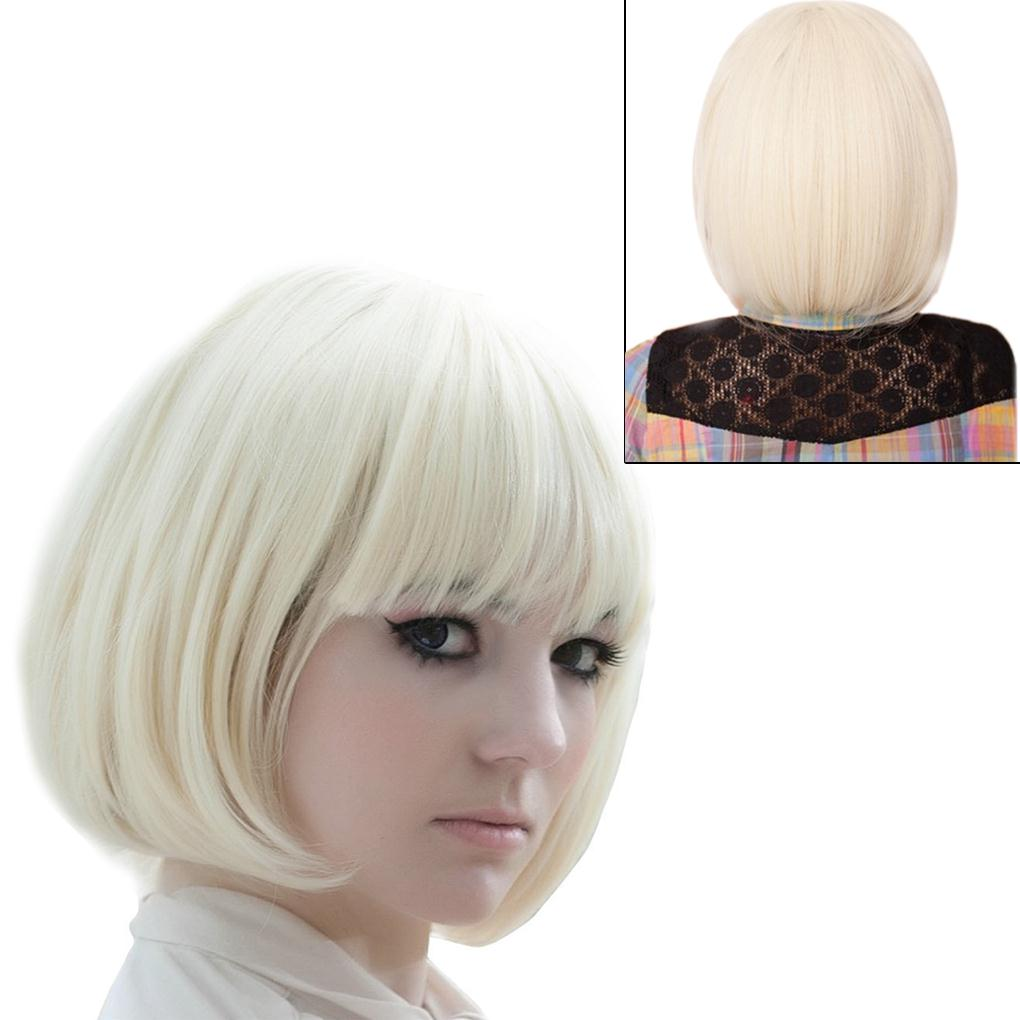 Гаджет  Cheap!!! Low Price Fashionable BOB Style Creamy white Short Wig Sliming Face Party/Stage Wigs Cosplay hot selling None Волосы и аксессуары