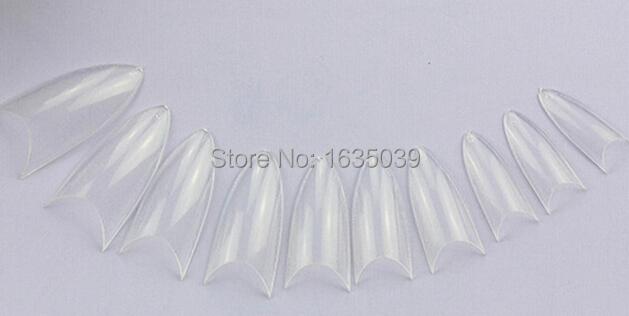 Approx 500pcs Fashion half Cover point False Nail tip,Clear French Acrylic Nail Art Tips DIY Design nail tips(China (Mainland))