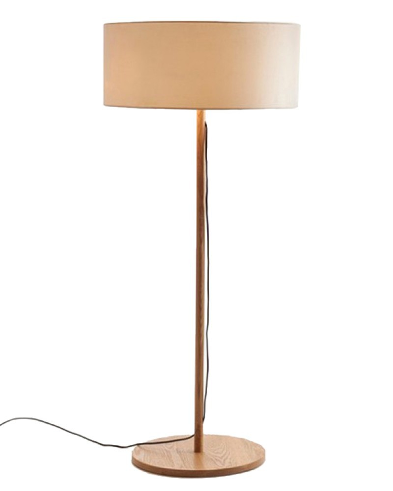 Ems Free Shipping Floor Lamps Led Round Wooden Handmade