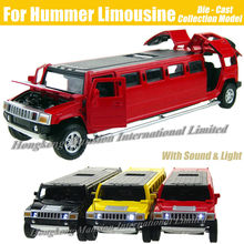 1:32 Scale Alloy Metal Diecast Car Model For Hummer Limousine Luxury Truck Collection Model Pull Back Toys Car With Sound&Light(China (Mainland))