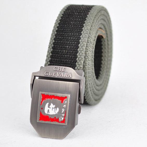 2015 Hot sale thicken men canvas belt Che Guevara military belt Army tactical belt men strap cintos AB023(China (Mainland))