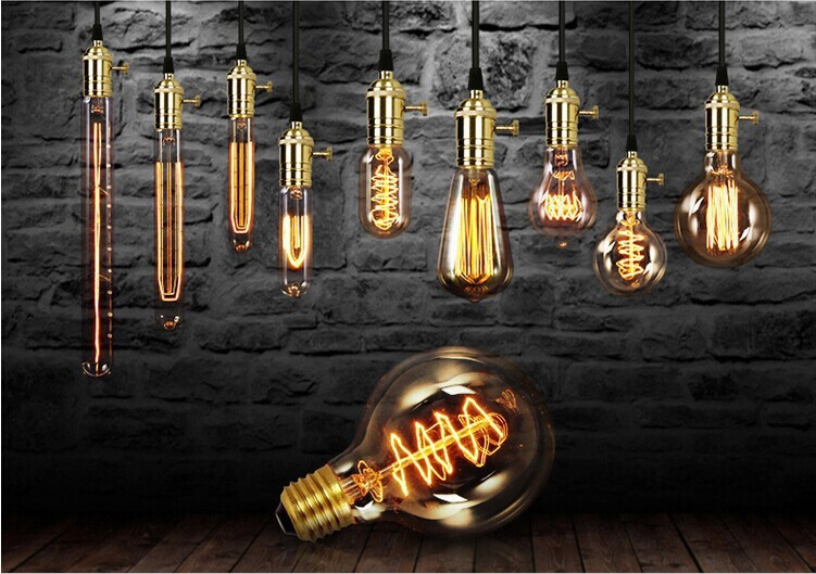 3W 40W Filament Bulbs Vintage Retro Antique Industrial E27 Style Edison Light(China (Mainland))