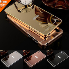 Buy SONY Z3 Case Luxury Gold Plating Armor Aluminum Metal Frame + Mirror Acrylic Back Cover Phone Cases Sony xperia Z3 L55T for $2.93 in AliExpress store
