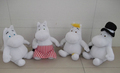 20cm Hot sale Christmas gift Moomin plush toy Moomin valley soft gift Moomin hippo doll 4pcs