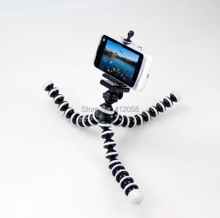 Digital Camera Flexible Tripod Spider Mount Holder 360' Rotational Tripus with Black holder for cell phones iphone5 samsung s5(China (Mainland))