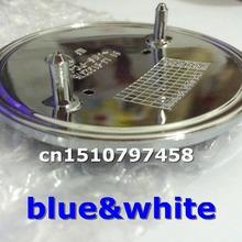 Oferta especial 10 unids/lote 82 mm ABS azul y blanco capó delantero con 2 pins coche insignia emblema emblemas(China (Mainland))