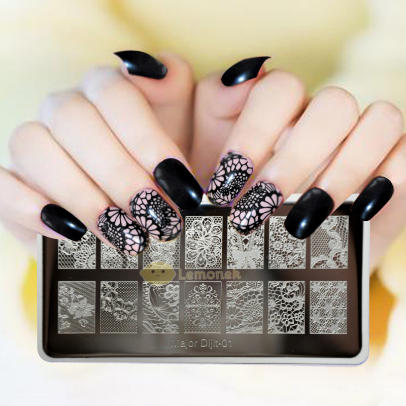 2017-New-Arrival-6-5-12-5cm-lace-DIY-Template-Nail-Art-Polish-Stamping-Plates-3D