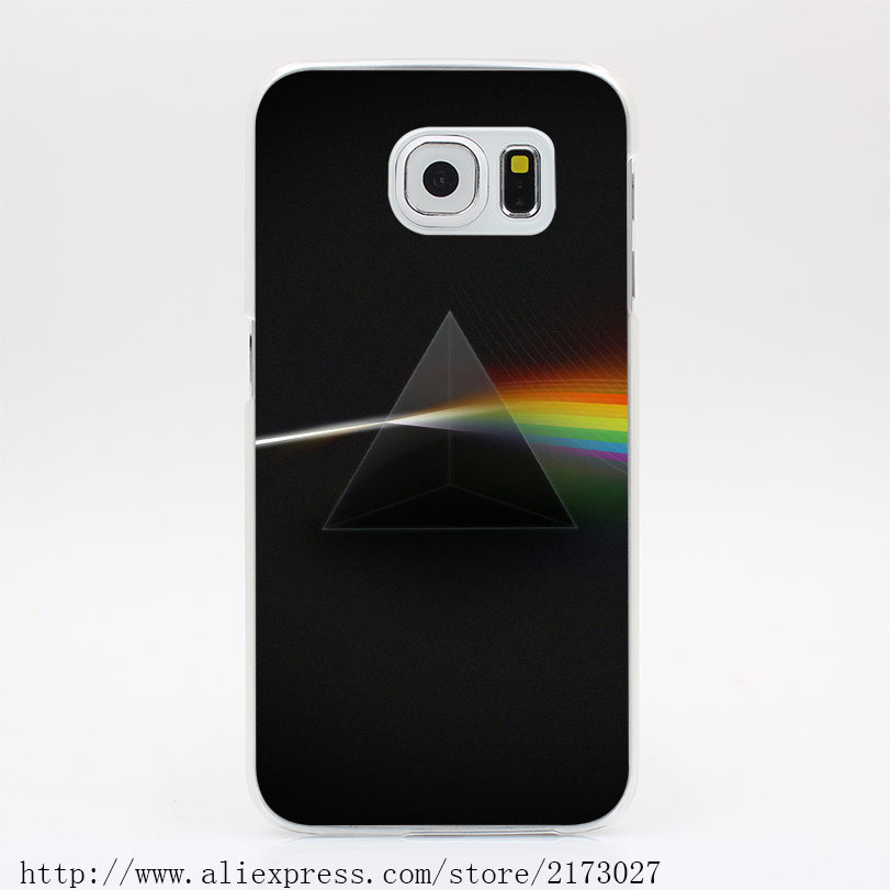 1811Y Pink Floyd Dark Side Of The Moon Album Cover Hard Case Transparent Cover for Galaxy S2 S3 S4 S5 & Mini S6 S7 & Edge Plus(China (Mainland))