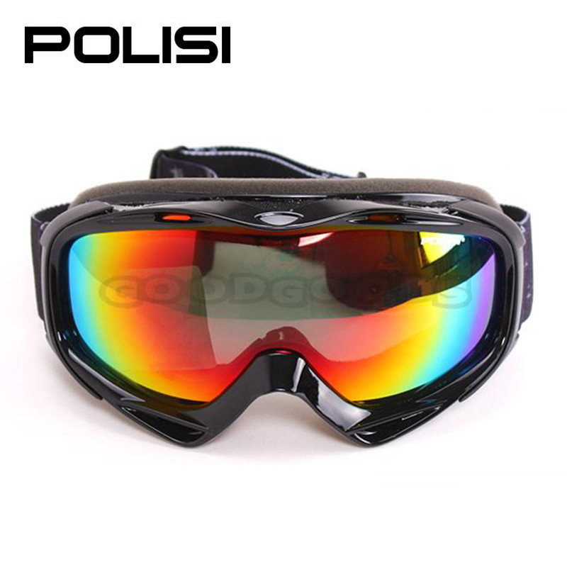 POLISI P80-BA Skiing Motorcycle Skate Polarized ski glass Ski Snowboard Bike ATV Snowmobile Anti-Fog Eyewear Free Shipping