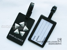 Star Alliance Luggage Tag Black Rubber Travel Tag Special Gift for Aviation Lovers Flight Crew(China (Mainland))