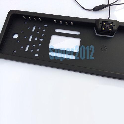 170deg Wired night vision EU Car Rear View License Plate Frame Camera(China (Mainland))