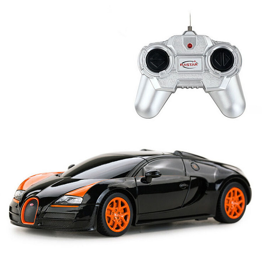 hotsale rastar 47000 1 24 bugatti veyron rc car king off road model racing speed voiture auto. Black Bedroom Furniture Sets. Home Design Ideas