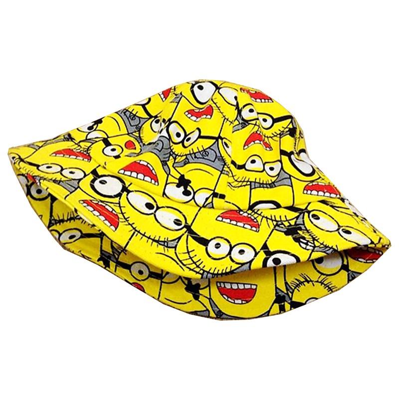 2016 мода шлем ведра мультфильм детей приспешников лето в стиле хип-хоп Hat акриловые прекрасный солнечный панама для мальчика и девочка