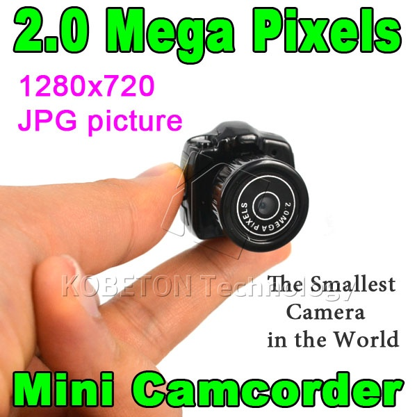New HD CMOS 2.0 Mega Pixel Smallest Portable Pocket Video Audio Camera Mini Camcorder 480P DV DVR Recorder 720P JPG Photo(China (Mainland))