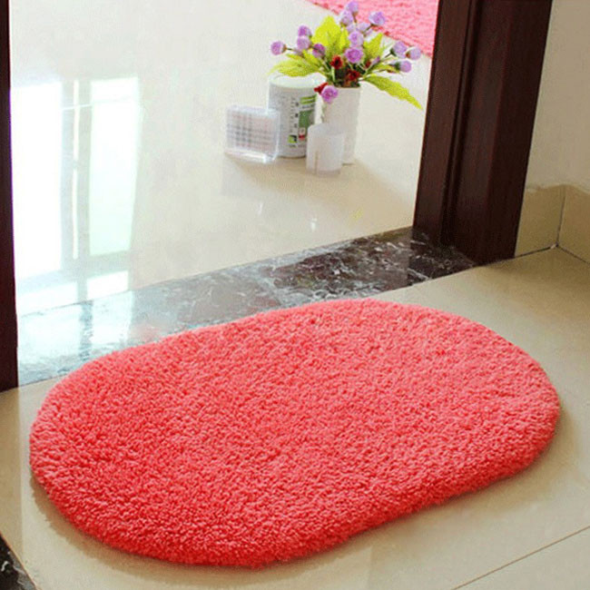 ®Fashion Bath Mat Bathroom ⑧ Plush Plush Velvet Slip Mats