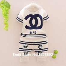 New 2015 summer style children suit girl 100% cotton  T shirt + Shorts  clothing set baby boy Girl clothing set(China (Mainland))