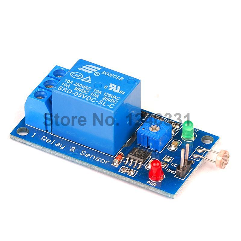 5PCS Light Sensitive Sensor 5V Relay Photosensitive Optical Relay Module Arduino DIY Free