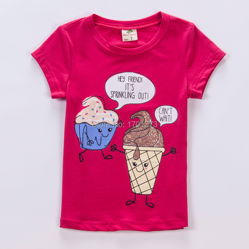 Youyikids brand direct selling 2015 ice cream clothing for for Newborn girl t shirts
