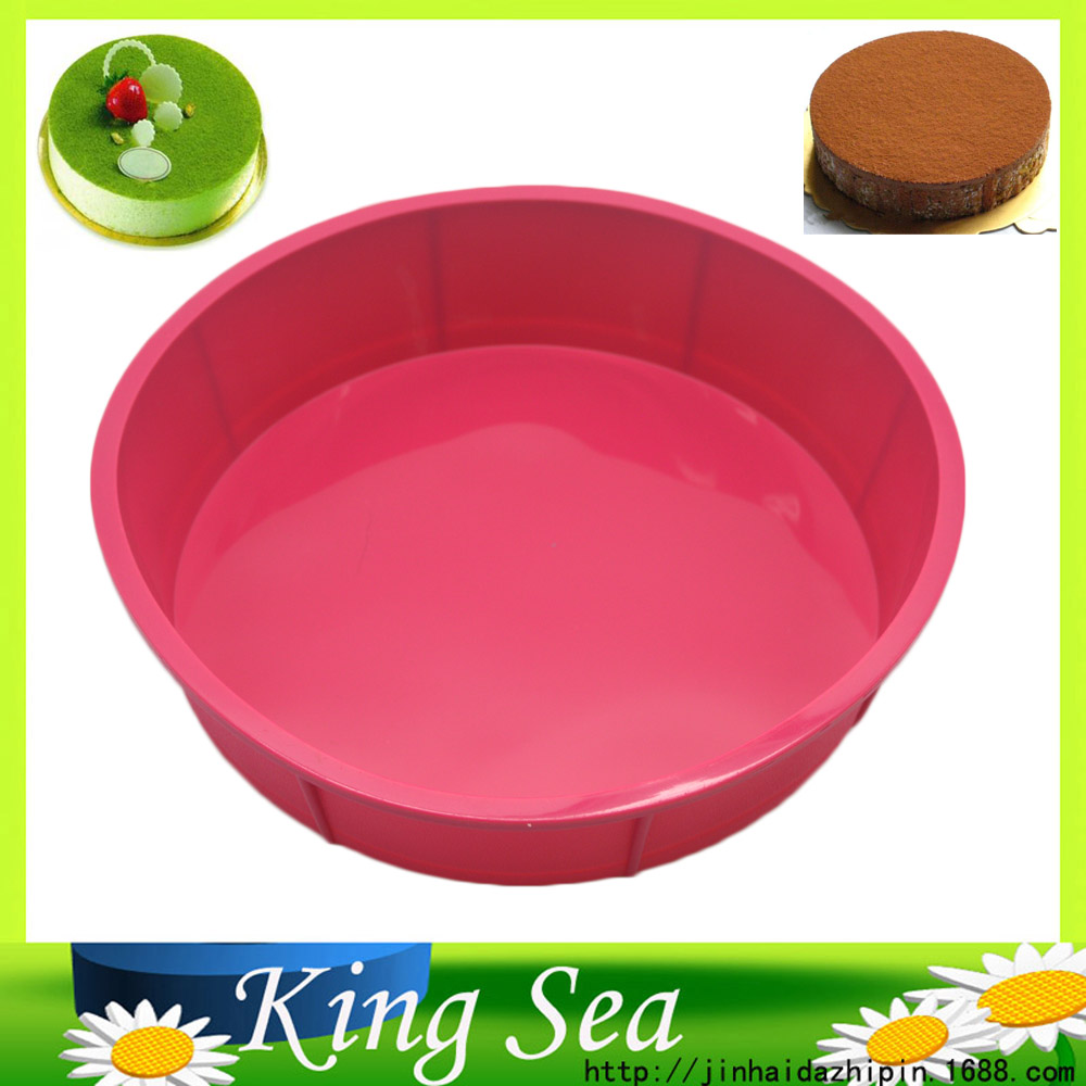 Free shipping Big Round Shape Good Quality 100% Food Grade Silicone Cake Pan,Silicone cake mould,Pizza Cupcake Bakeware DIY Mold(China (Mainland))