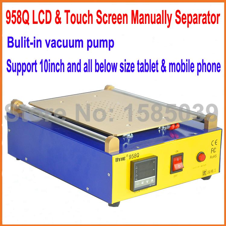 New 958Q 10 inch for iPad 2 Glass Vacuum LCD Separator Split Screen Repair Machine for Samsung Tablet PC(China (Mainland))