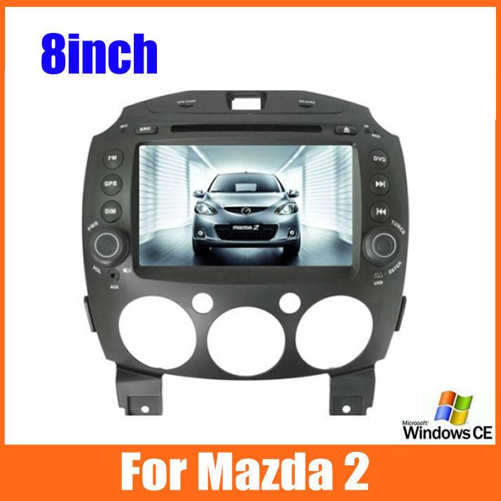 2 Din Car DVD Player for MAZDA 2 / Mazda2 Jinxiang / DE / Third generation 2007 2008 2009 2010 2011 2012 2013 2014 GPS Free map(China (Mainland))