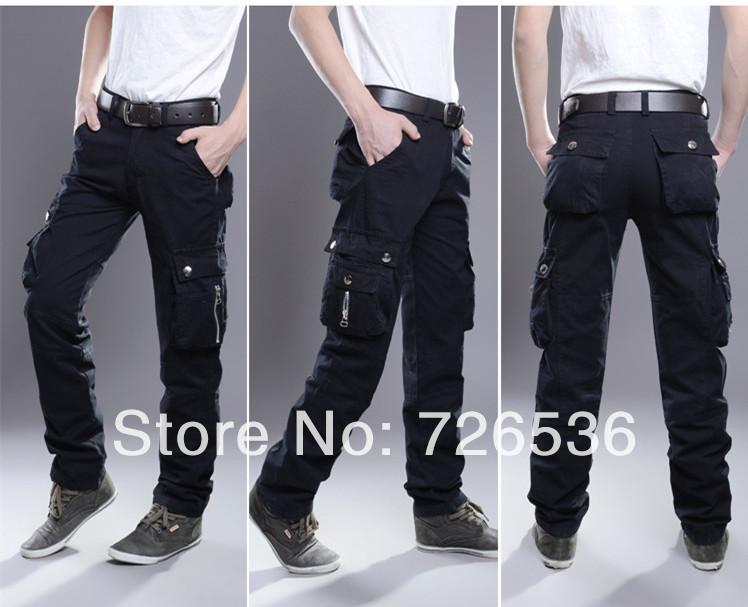 Black Cargo Pants Men