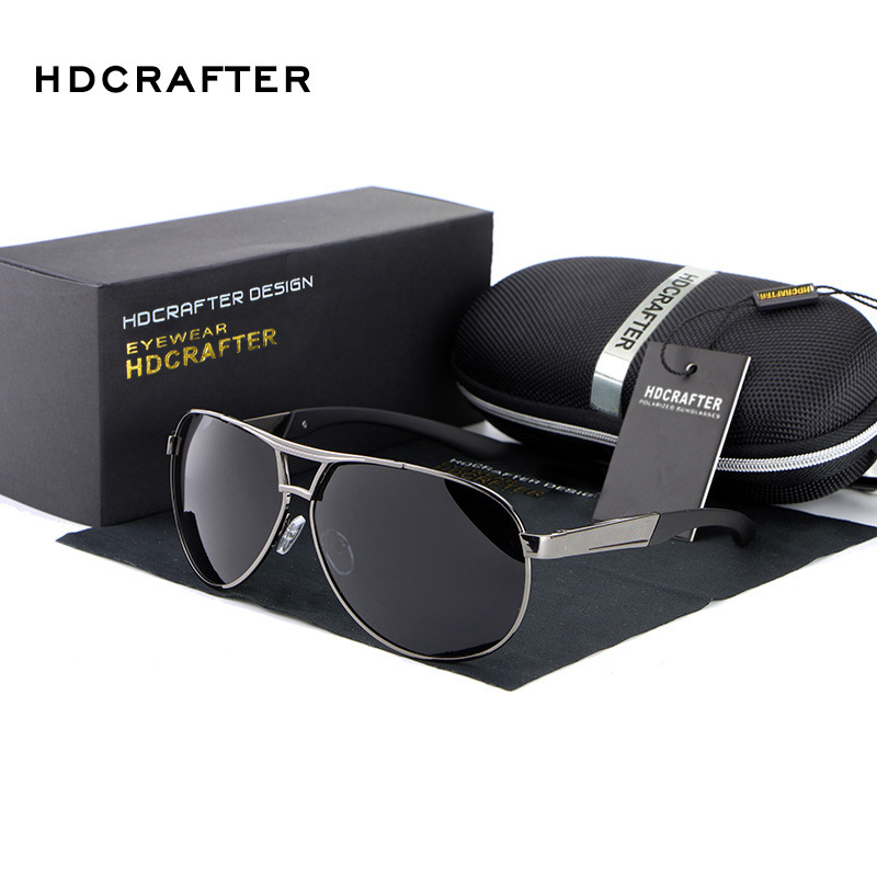 HDCRAFTER Fashion Men's UV400 Sunglasses 2016 New Mirror Eyewear Sun Glasses For Men With Case Box oculos de sol feminino ABS-3(China (Mainland))
