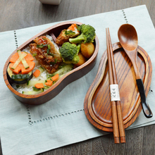 Free shipping  bento lunch boxes student  tableware sushi lunch box food containers portable wooden cutlery(China (Mainland))