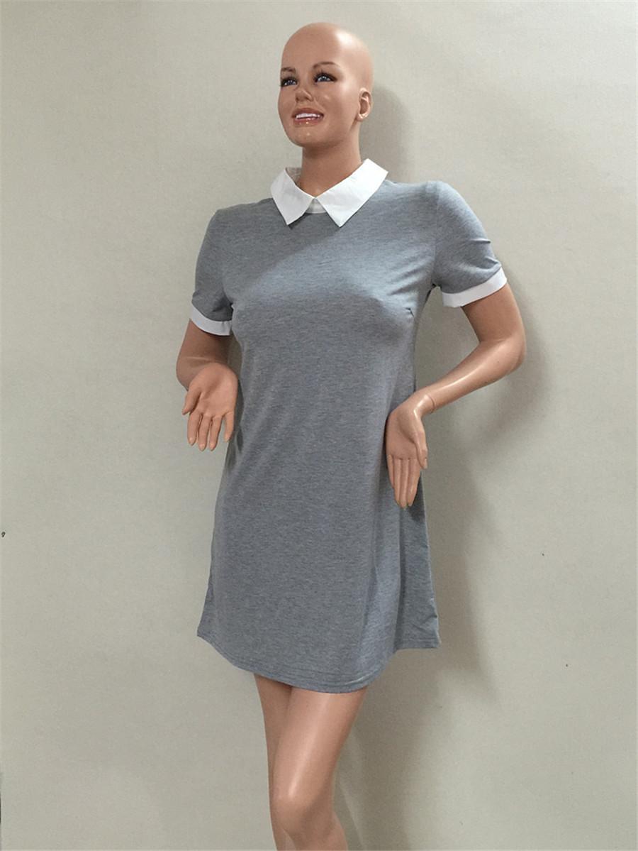 2016 new women hot female decoration sleeved models Slim Sexy Mini Dress casual style tshirt dress(China (Mainland))