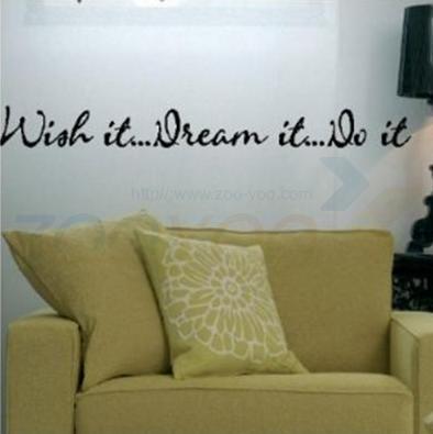 Жаль , что это. Это мечта. Сделайте это вдохновляющие цитаты на стены zooyoo8012 декоративные adesivo де parede съемный виниловые наклейки