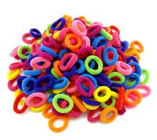 Atacado 100 Pcs Colorido Criança Crianças Acessórios Titulares de Cabelo Faixa de Cabelo Elásticos de Borracha Bonito Das Mulheres Da Menina Encantos Tie Gum