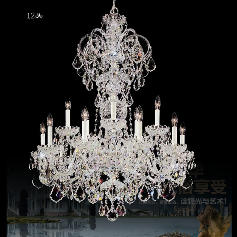 Discount Large Foyer Chandeliers : Aliexpress buy extra long large chandelier crystal