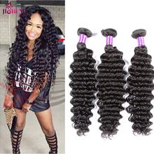 Aliqueen Brazilian deep curly 4 bundles deep wave Brazilian Hair 8A uprocessed virgin hair Brazilian curly weave human hair soft(China (Mainland))