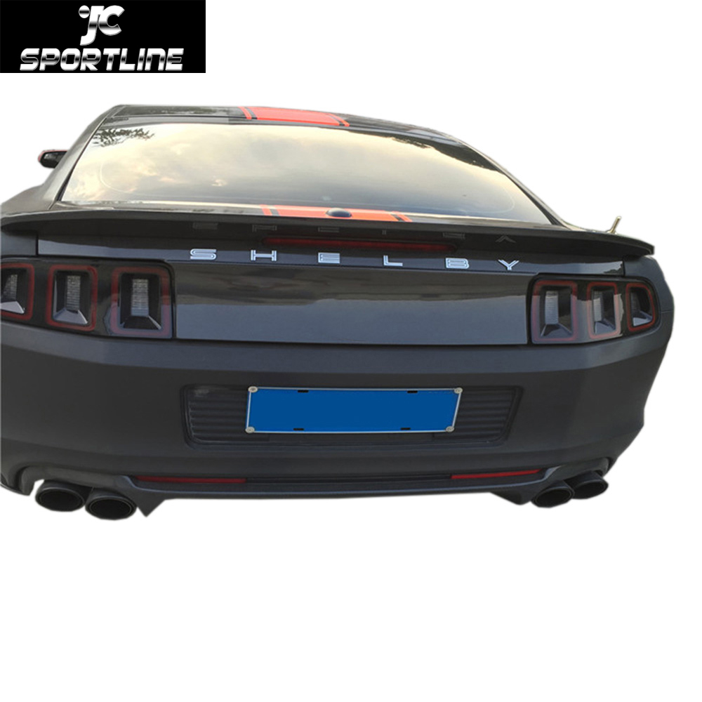 car-styling carbon fiber rear trunk tank cover for Ford Mustang GT500 2013-2014(China (Mainland))