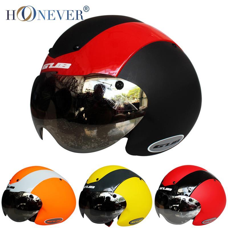 Adult Bicycle Helmet Integrally-molded Outdoor MTB Road Bike Helmet Cycling Helmet with Lens 58-62cm TT(China (Mainland))
