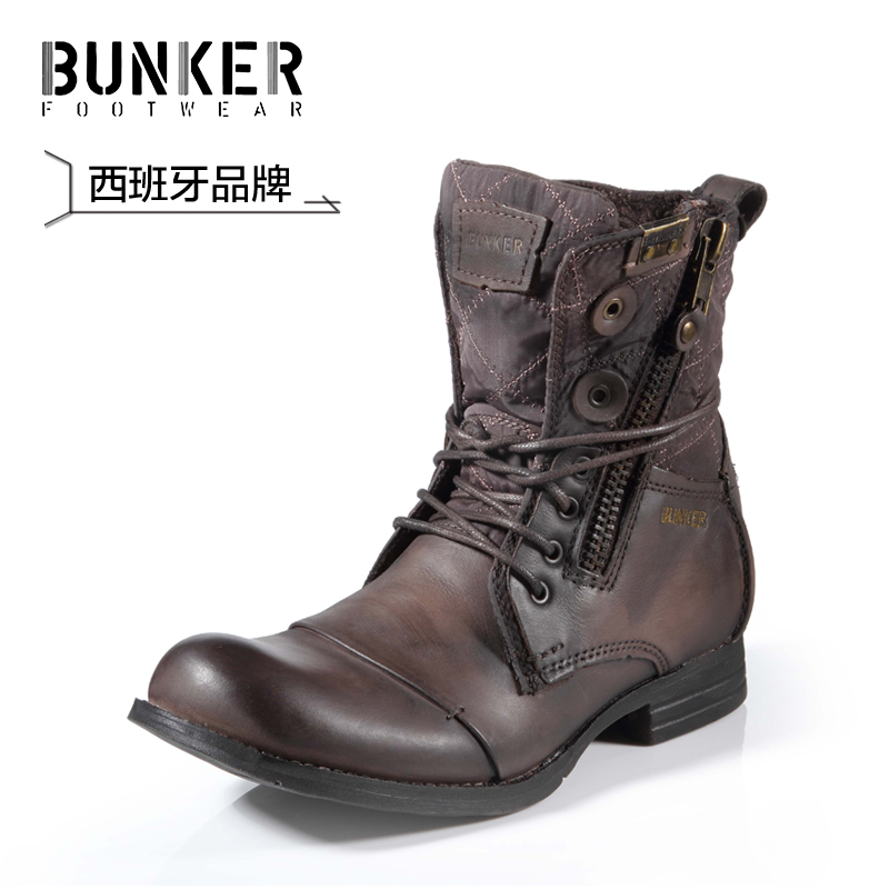 Bunker Martin Boots Male Fashion Male Boots Summer Round Toe Genuine Leather Boots Male High ...