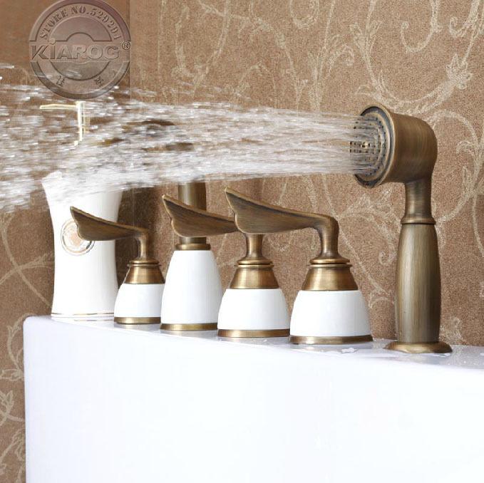 Bathtub Water Faucet : bathtub antique brass Faucet.Tub water faucet.Antique brass Bathroom ...