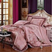 Luxury jacquard bed linens Modal fabric Reactive Print 4Pcs bedding set Full/Queen/King Size duvet Cover bedding sets(China (Mainland))