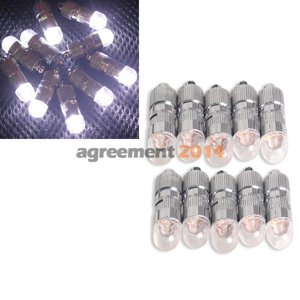 10Pcs Flashing Balloons Lights LED Bulbs with Tail for Party White Light ARE4(China (Mainland))