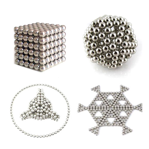 New 216pcs Diameter 5mm Sphere Cube Puzzle Neo Magic Magnet Magnetic Beads Spacer Silver Education Toy Bucky Balls(China (Mainland))
