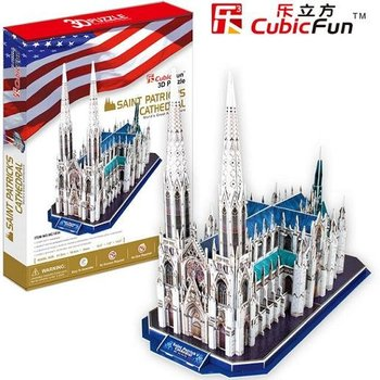 Freeshipping! Saint Patricks Cathedral,Cubic Fun 3D Jigsaw Puzzle,3D paper model,DIY puzzle,Best Educational toys