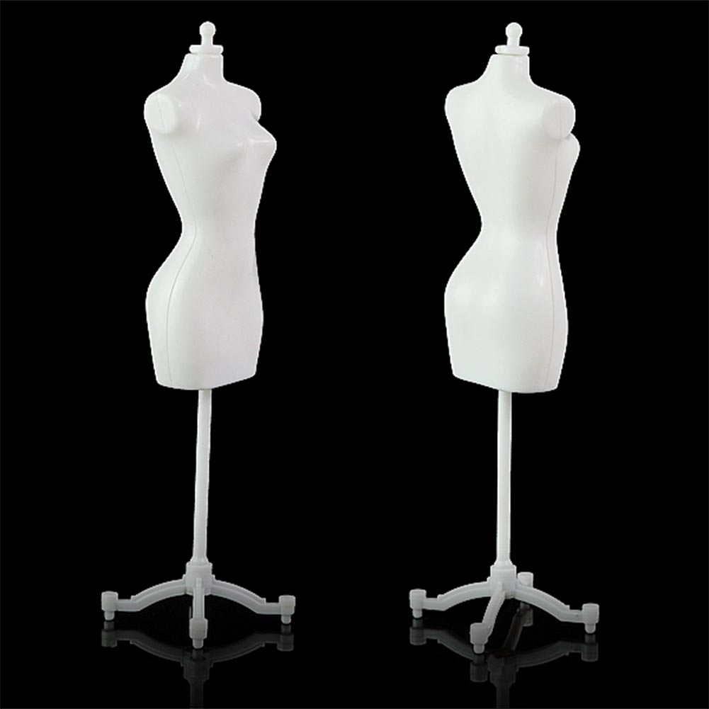 "8.8"" Display Gown Dress Form Clothe Mannequin Model Stand Rack Holder For Barbie Doll black white(China (Mainland))"