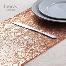 Rose Gold Sequin Table Runner (W*L)30* 275cm