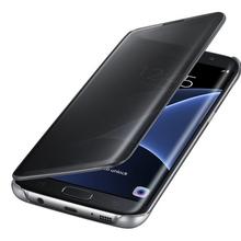 Buy Fashion Phone Bags Samsung Galaxy S7 Case Luxury Transparent Flip Cover Samsung Galaxy S7 Edge Case Original Smart Funda for $4.88 in AliExpress store